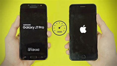 samsung galaxy j7 pro 2017 vs iphone 7 plus speed test 4k