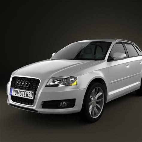 Audi A3 Models by Audi A3 Sportback 2011 3d Model For In Various