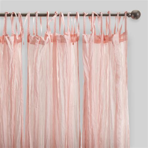 Online Shopping For Kitchen Furniture Blush Pink Crinkle Cotton Voile Curtains Set Of 2 World