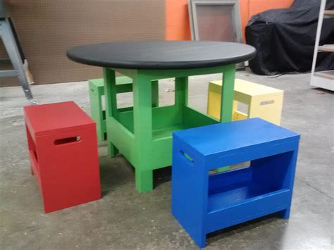 storage benches for kids ana white kid s storage table and benches diy projects