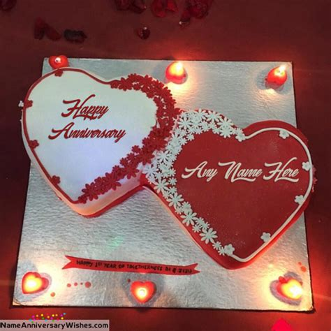 Wedding Anniversary Wishes On Cake With Names by Happy Anniversary Cakes With Name