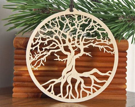 Wooden Ornament tree of ornament woodcut tree of decoration
