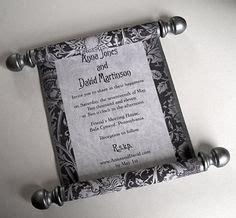 renaissance scroll wedding invitations scroll wedding invitations invitations and wedding