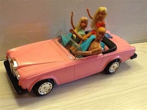barbie toy cars malibu barbie ken skipper doll lot in pink zima rolls