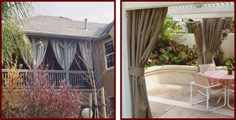 Outdoor Waterproof Curtains Patio Custom Outdoor Fabric Curtains Riverside San Bernardino Orange County Ca Patio Gazebo Cabana