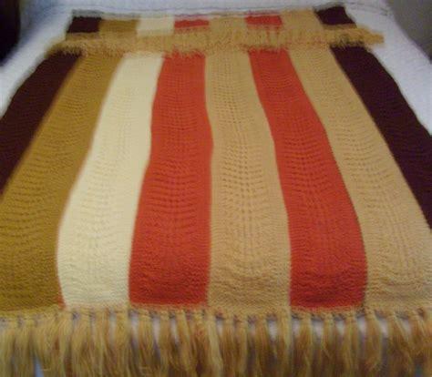 Handmade Afghan - vintage handmade afghan 1950 s 60s 40 x 68 afghans
