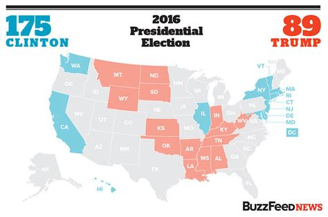 us state map quiz buzzfeed here s our map showing which states clinton and won
