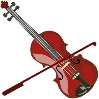 printable violin images music clip art