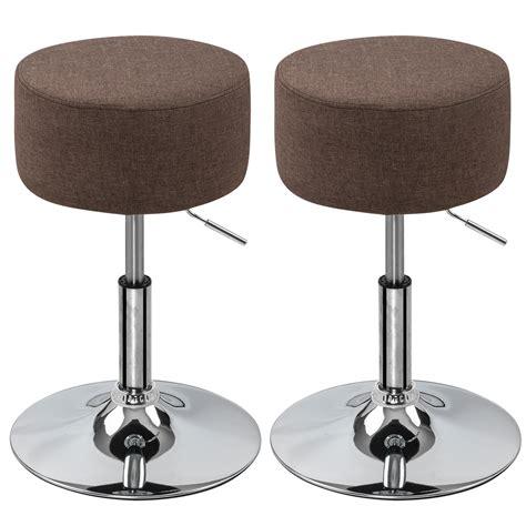 Adjustable Kitchen Stools by 1 2 Pcs Bar Stools Pu Linen Adjustable Kitchen Breakfast