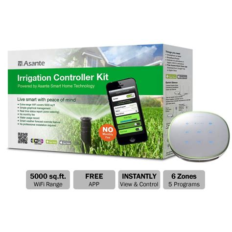 asante wireless cloud based irrigation controller kit 99