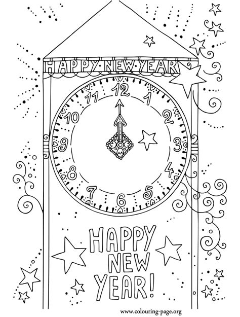 new year colouring picture new year new year countdown coloring page