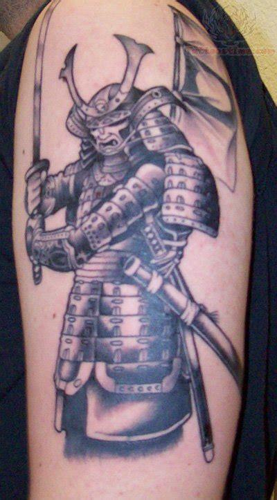 tattoo gallery samurai samurai half sleeve grey ink tattoo on half sleeve