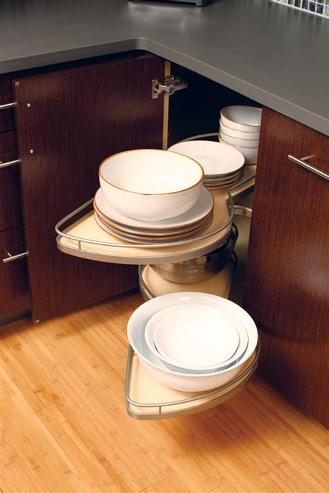 Corner Kitchen Cabinet Storage Solutions Corner Cabinets Turntable Shelves Dura Supreme Cabinetry