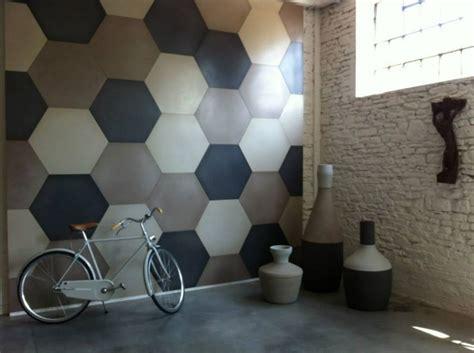 Industrial Kitchen Design Ideas Coloured Concrete Hexagon Wall Tile Feature Tiles