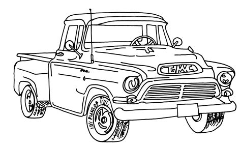 coloring pages gmc truck gmc coloring pages coloring pages