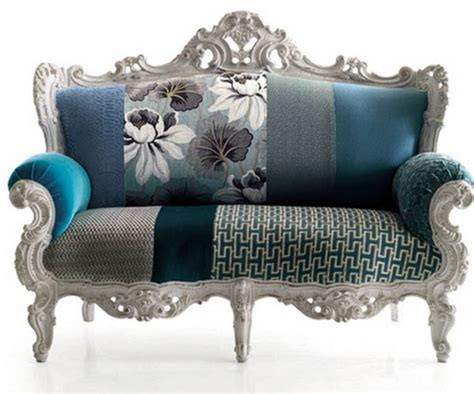 Modern Vintage Sofa Modern Upholstery Fabric Prints Living Room Furnishings Designer Fabrics