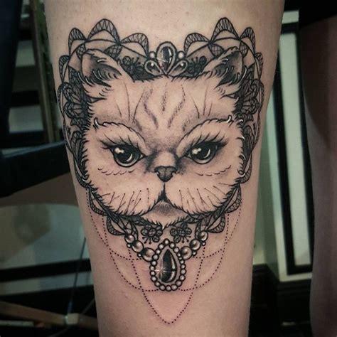tattoo cat persian persian cat tattoo www imgkid com the image kid has it