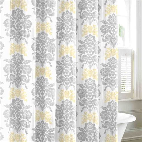 yellow bathroom curtains shower curtain dream home pinterest yellow shower