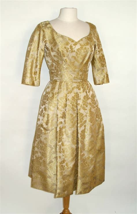 help dating brocade dress and materials vintage fashion