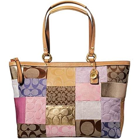 Coach Patchwork Bags - coach signature stripe patchwork bag collection