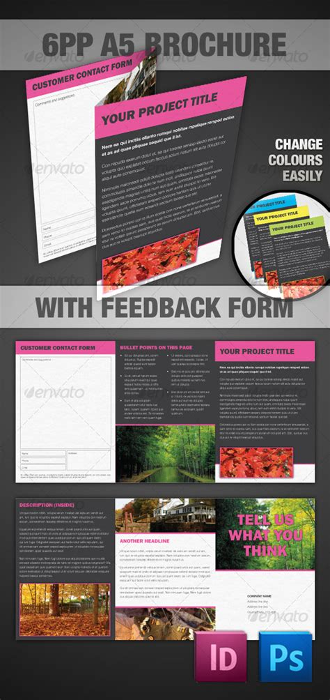 6pp A5 Brochure Indesign Photoshop Graphicriver A5 Brochure Template Indesign