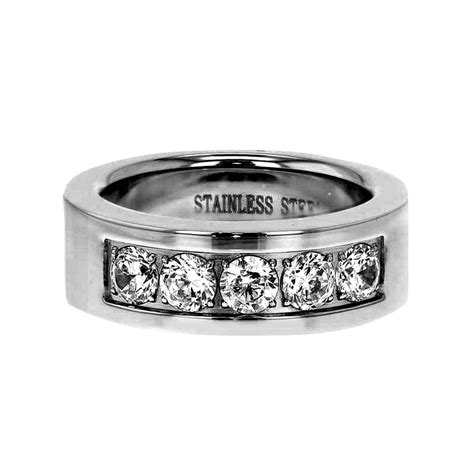 stainless steel wedding ring sets his hers 3 stainless steel wedding