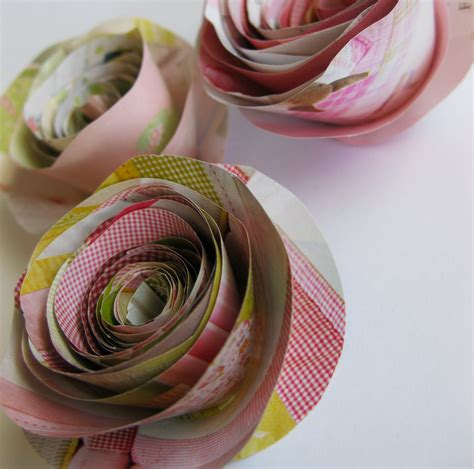 Make Paper Flowers - frugal project rolled paper flowers made from