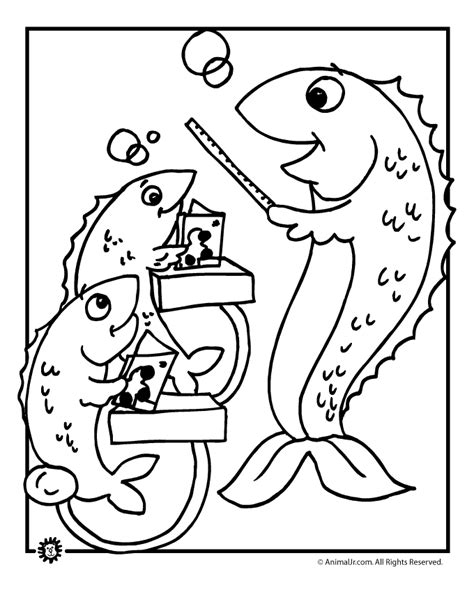 coloring page school of fish fall coloring page school of fish woo jr kids activities