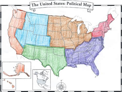 5 regions of the united states printable map 6th grade regions maps quiz review items mr s