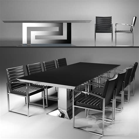 Versace Dining Table 3d Models Table Chair Table And Chairs Versace Greca Grand Dining Table Chair