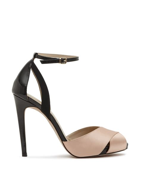 black high heel ankle sandals reiss ankle sandals cece cross front high heel in