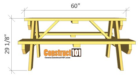 picnic bench plans free traditional picnic table plans pdf download construct101