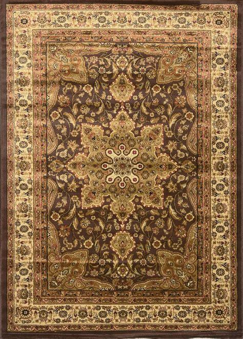 Asian Area Rugs Black Brown Ivory Medallion Area Rug Border Runner Carpet Ebay