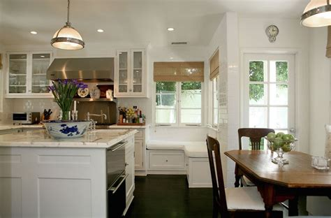 kitchen island with banquette l shaped kitchens design ideas