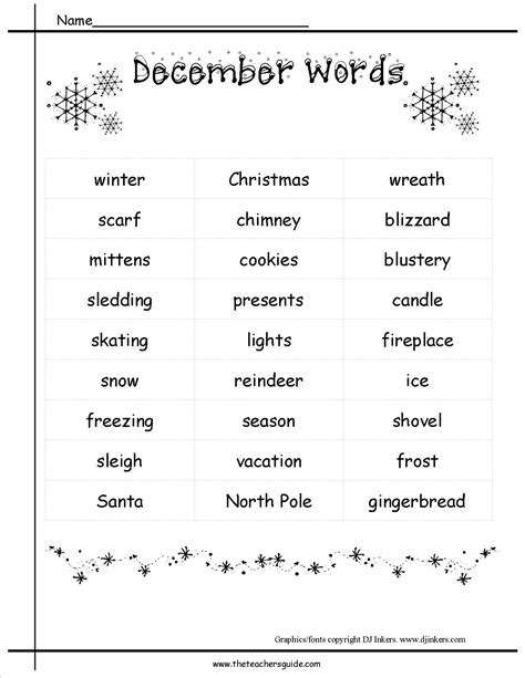 themes word list december holidays lesson plans and themes