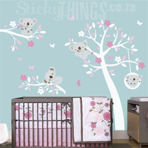 Blue Wall Stickers koala trees wall art sticker koala wall decal