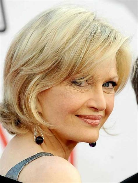 bob haircuts for older women side bangs best short haircuts for mature women short hairstyles