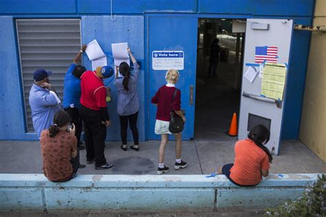 What time do I have to be in line to vote tonight in ... Exit Polling California