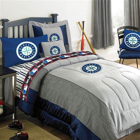 baseball bedding full seattle mariners mlb authentic team jersey bedding full