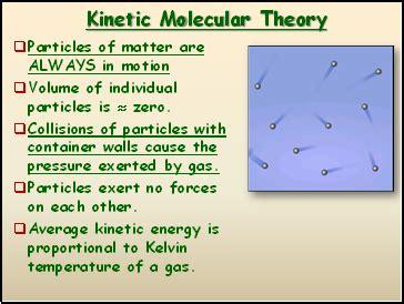 kinetic molecular theory presentation chemistry sliderbase