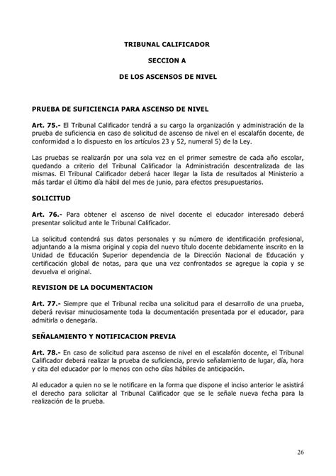 reglamento general de carrera docente reglamento de la ley de la carrera docente