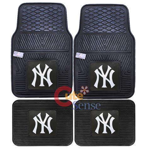 New York Yankees Car Mats by New York Yankees Car Floor Mat 4pc Utility Fanmats Mlb Ny