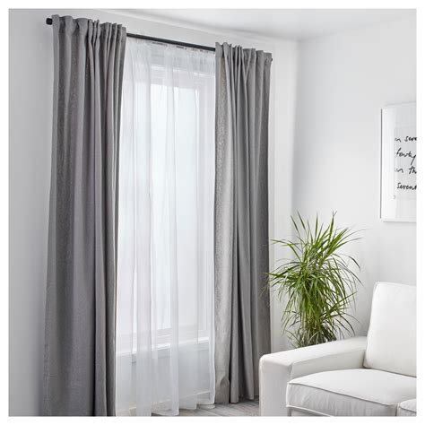 sheer white drapes teresia sheer curtains 1 pair white 145x250 cm ikea