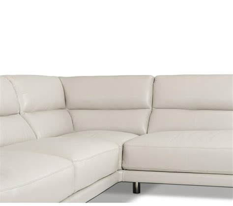 Grey Leather Sectional by Dreamfurniture Elegance Modern Leather Grey