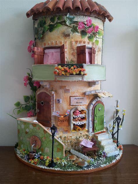 terrazzo in fiore tegole decorate casa con terrazzo in fiore diorama