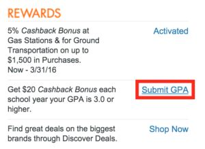 Discover Rewards Calendar 2015 Discover It 2015 11 Updated Up To 10 Back