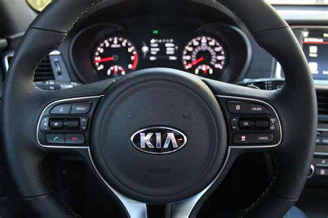 kia steering wheel 2016 kia optima first drive digital trends