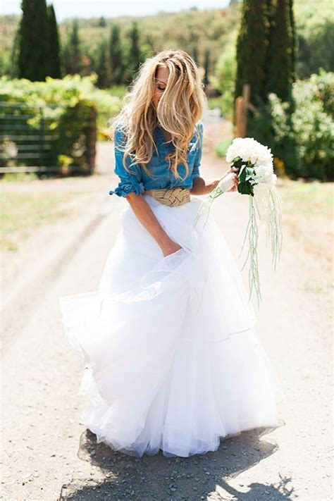 White Demin Wedding Dresses by 25 Best Ideas About Denim Wedding Dresses On