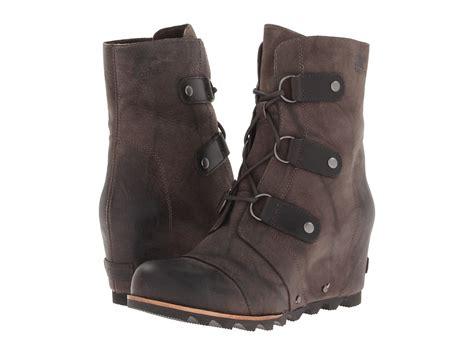 sorel wedge boots sorel joan of arctic wedge mid womens waterproof boots