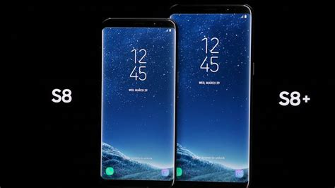 samsung proudly shows the galaxy s8 and s8 plus cnet